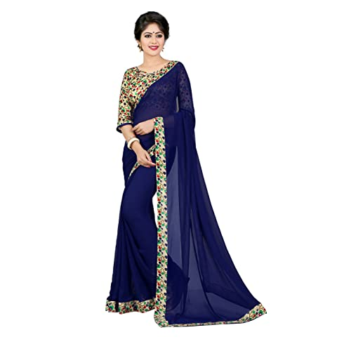 0e37699c2a0d30 Printed Blouse with Plain Saree  Buy Printed Blouse with Plain Saree ...