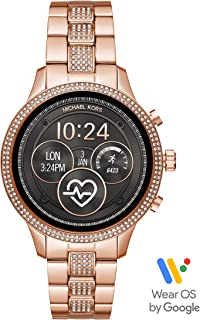 Michael Kors Women's Access Runway Stainless Steel Plated Touchscreen Watch with Strap, Goldtone, 18 (Model: MKT5052)