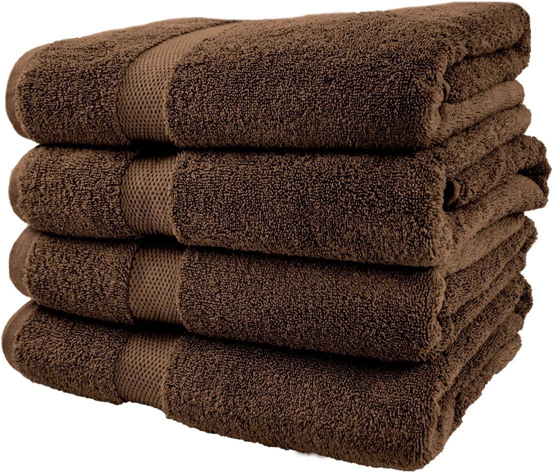 Super Special SALE held Cotton Calm Exquisitely Plush and Towel Soft Chocola Set supreme Bath