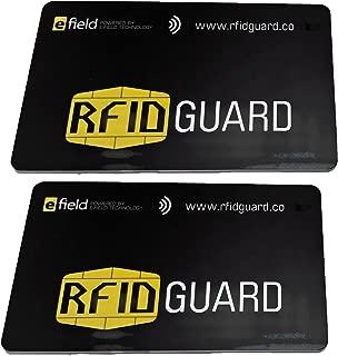 RFIDGuard RFID Blocking Card Guard Blocker for Credit/Bank Cards, Passports and Wallets, 2-Pack (RFIDGD-2-PAK)