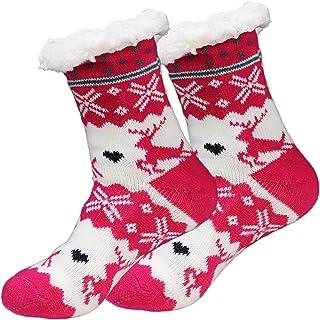 Mujer Calcetines Invierno Calentar Pantuflas de Estar Por Casa Super Suaves Cómodos Calcetines Antideslizante