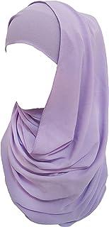 Lina & Lily Solid Color Bubble Chiffon Muslim Hijab Long Scarf