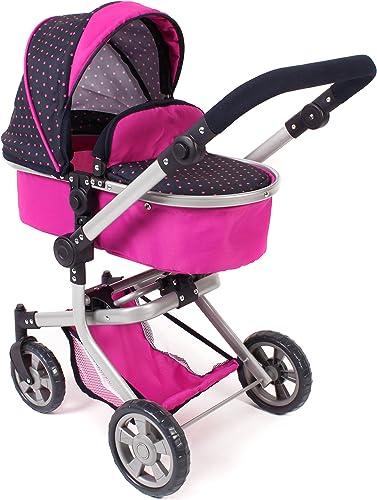 rosa-grigio Bayer Design bambole carrello Neo Pro 2in1