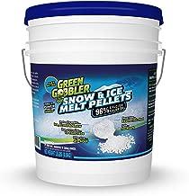 Green Gobbler 96% Pure Calcium Chloride Snow & Ice Melt Pellets | Concrete Safe Ice Melt (15 lb Pail)