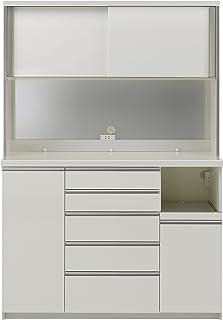 パモウナ 食器棚KG パールホワイト 幅140×高さ203×奥行45 日本製 KGR-S1400R