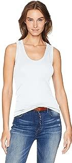 white cotton sleeveless top