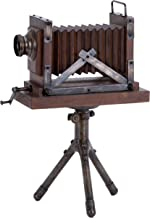 Deco 79 Wood Metal Camera, 17 by 11-Inch