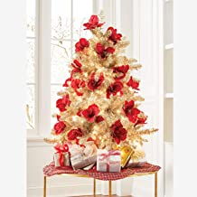 BrylaneHome Christmas 4' Champagne Tinsel Tree - Champagne
