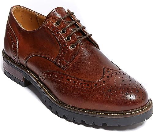 British Passport BP5695, Chaussures de Ville à Lacets pour Femme Marron Marron