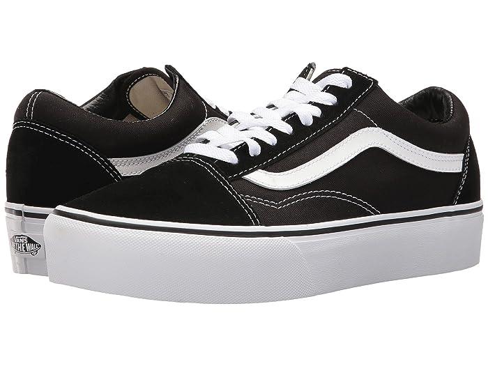 Mens Vintage Shoes, Boots | Retro Shoes & Boots Vans Old Skool Platform $64.95 AT vintagedancer.com
