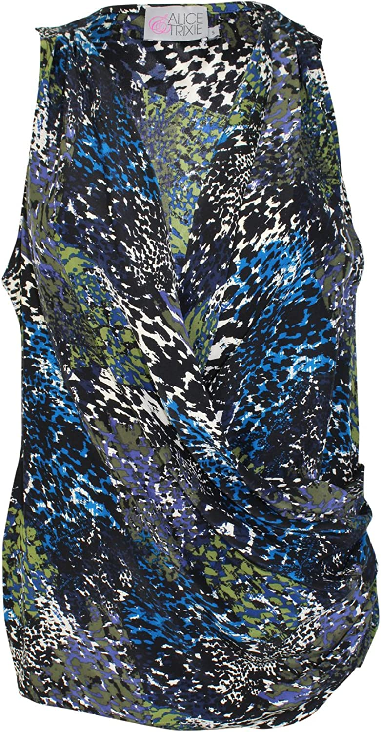 Alice & Trixie Womens Wrap Sleeveless Top Multicoloured Small, Large