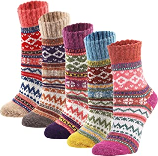 5Pack Womens Vintage Winter Soft Warm Thick Cold Knit...