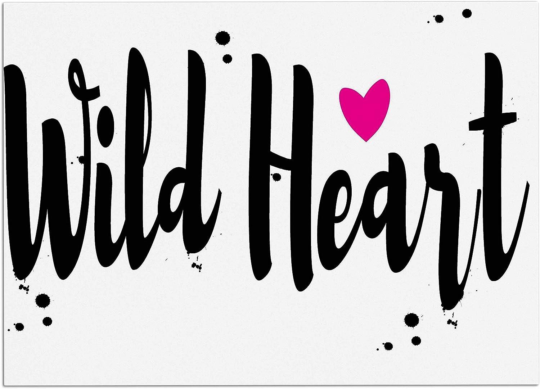 KESS InHouse SC2138ADM02 Suzanne Carter Wild Heart2 Black Digital Dog Place Mat, 24  x 15