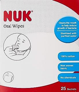 NUK Oral Wipes, White, 25ct