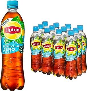 Lipton Zero Sugar Ice Tea Sparkling een heerlijk verfrissende ijsthee - 12 flessen - 500 ml - Voordeelverpakking