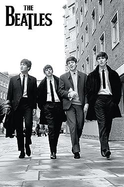 The Beatles (Walking Down Street) Music Poster Print - 24X36