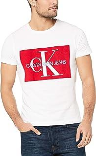 تي شيرت رجالي من Calvin Klein Jeans J30J307843 مقاس S/S بلون أحمر ساطع/سباق مقاس XL