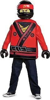 Disguise Kai Lego Ninjago Movie Classic Costume, Red, Large (10-12)