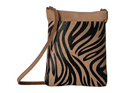 Leatherock Monroe Cell Pouch (Zebra Tan) Cross Body Handbags