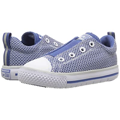Converse Kids Chuck Taylor(r) All Star(r) Hyperlite Ox (Infant/Toddler) (Pure Platinum/Nightfall Blue/Pure Platinum) Boys Shoes