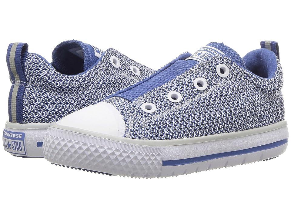 Converse Kids Chuck Taylor(r) All Star(r) Hyperlite Ox (Infant/Toddler) (Pure Platinum/Nightfall Blue/Pure Platinum) Boys Shoes