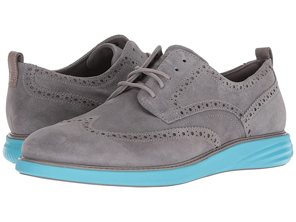 Cole Haan Grand Evolution Shortwing (Ironstone Suede/Bluefish) Men