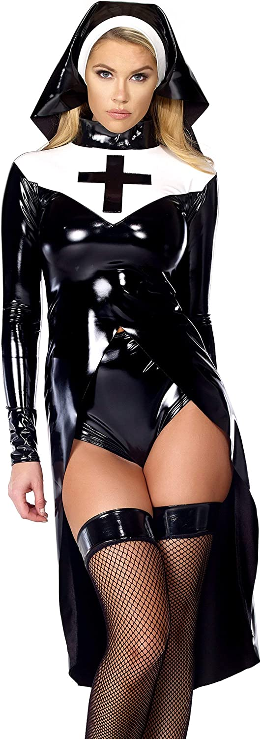 Forplay Max 82% OFF Women's Saintlike Seductress Vinyl and OFFicial Top Headpie Panty