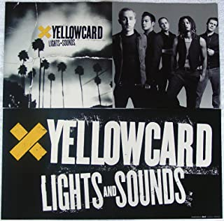 Yellowcard - Lights And Sounds - Two Sided Poster - Rare - New - Ryan Key - Sean Mackin - Ben Harper - Peter Mosely - Longineu W. Parsons III - Rough Landing, Holly - Yellow Card