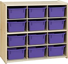 Contender Baltic 12 Cubby Storage Purple