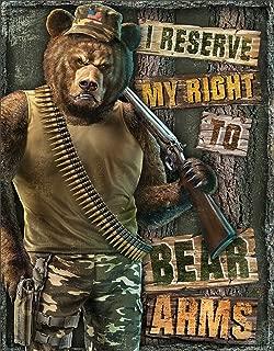 Desperate Enterprises Right to Bear Arms Tin Sign, 12.5