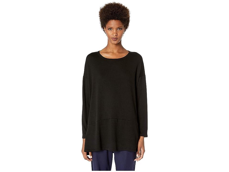 Eileen Fisher Ballet Neck Oversized Tunic (Black) Women