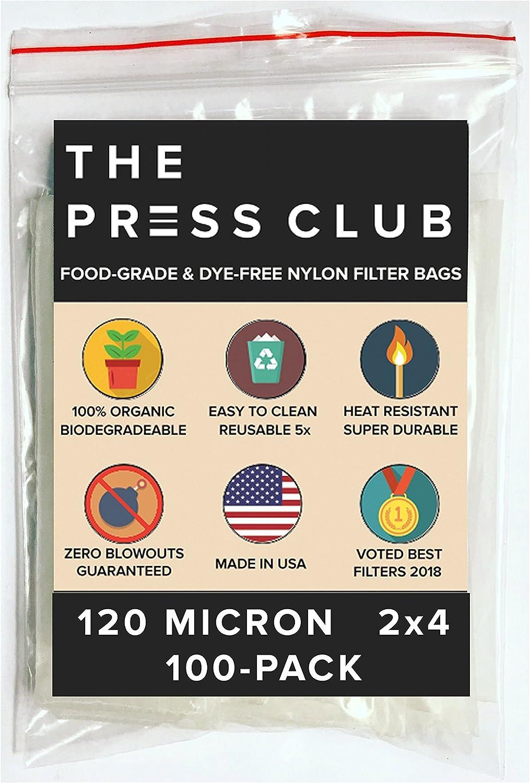 120 Micron   Premium Nylon Tea Filter Press Screen Bags   2  x 4    100 Pack   Zero Blowout Guarantee   All Micron & Sizes Available