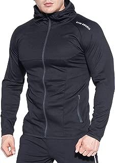 Men's Full-Zip Athletic Hoodies,Workout Training Sport Muscle Sweatshirt