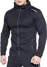 BROKIG Men's Full-Zip Athletic Hoodies,Workout Training Sport Muscle Sweatshirt