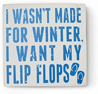 Barnyard Designs I Want My Flip Flops Wooden Box Wall Sign Beach House Decor Plaque 8