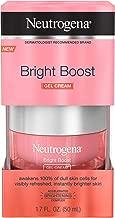 Neutrogena Bright Boost Brightening Gel Moisturizing Face Cream with Skin Resurfacing and Brightening Neoglucosamine for Smooth Skin, Facial Cream with AHA, PHA, and Mandelic Acids, 1.7 fl. Oz