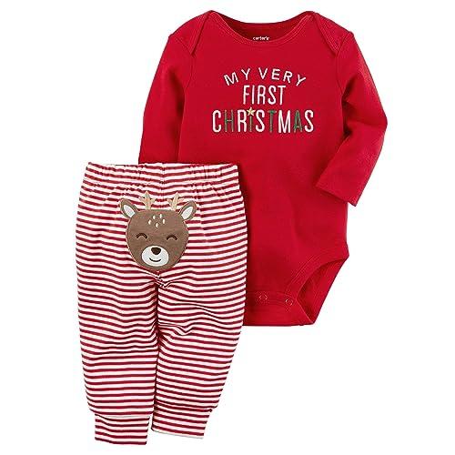 fe9a562312f4 Carter s Christmas Pajamas for A Baby Boy  Amazon.com