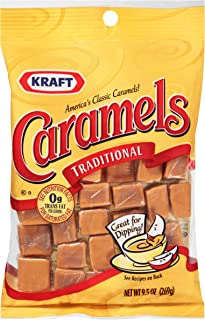 Kraft Individually Wrapped Caramel Candy , 9.5 oz Bag (Pack of 8)