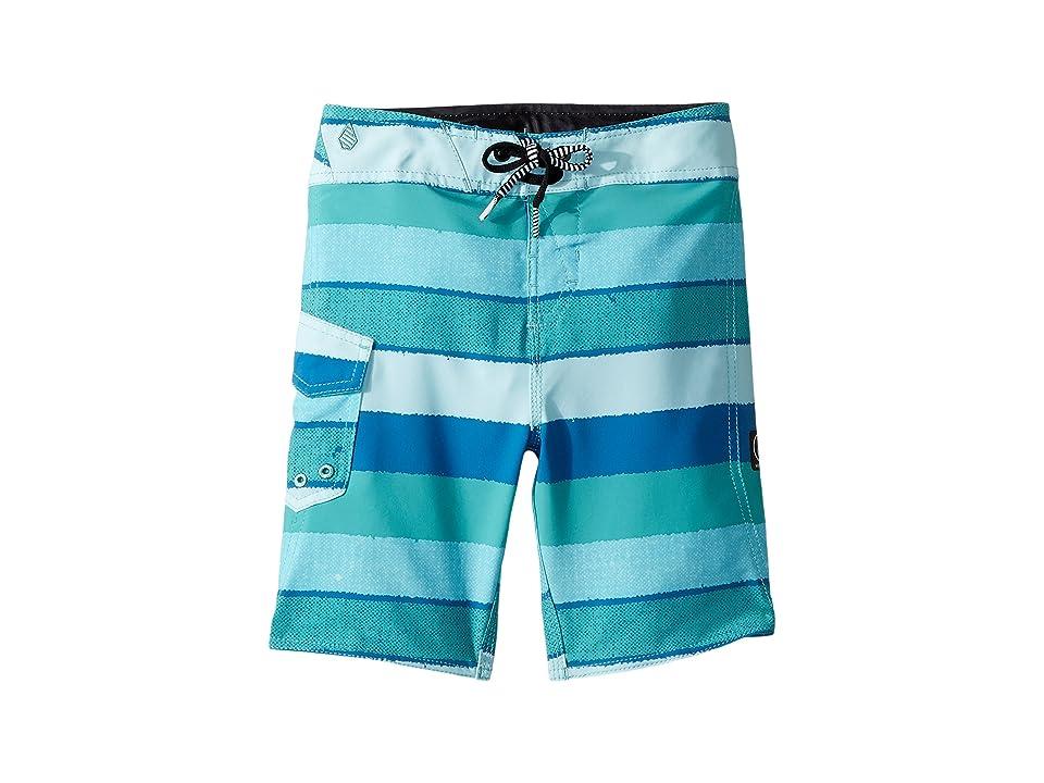Volcom Kids Magnetic Liney Mod Boardshorts (Toddler/Little Kids) (Turquoise) Boy