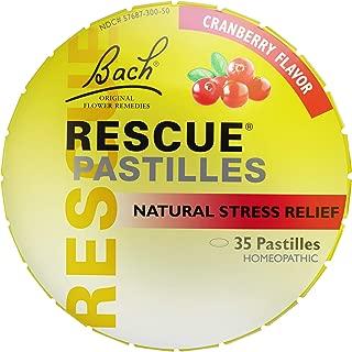 RESCUE PASTILLES, Homeopathic Stress Relief, Natural Cranberry Flavor - 35 Pastilles
