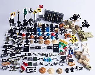 کیت های لوازم نظامی مدرن HGKJ ، کلاه ، سلاح ، ابزار ، اهداف ، انبار اسلحه ، سگ های پلیس و کیسه های شن ، کیت های لوازم جانبی رزمی سازگار با بلوک های اصلی مارک تجاری