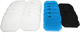 LTWHOME Replacement Carbon Filter,  Coarse Filter and Fine Filter Pads Set Suitable for Eheim Professional Pro 2 2226/2328/2026/2126 (Pack of 24)