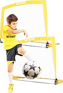 NETPLAYZ Kids Soccer Goals, Pop-up Football Goal Net (Backyard Sports & Family Games) Portable, Set of 2