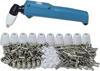 ESAB L-TEC PT-31 JG-40 WSD-LG40 Plasma Electrode Tips Nozzle Extended Nickel-plated Shroud Shield Cup Kit and CUT 50D 50 40 Plasma Cutter Torch Head Body 236pcs