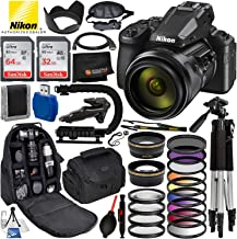 $849 » Nikon COOLPIX P950 83x Optical Zoom Digital Camera with Built-in Wi-Fi & Ultimate 96GB Accessory Bundle – Includes: 2X SanDisk Ultra Memory Cards + Wide Angle & Telephoto Lens Attachments + Much More
