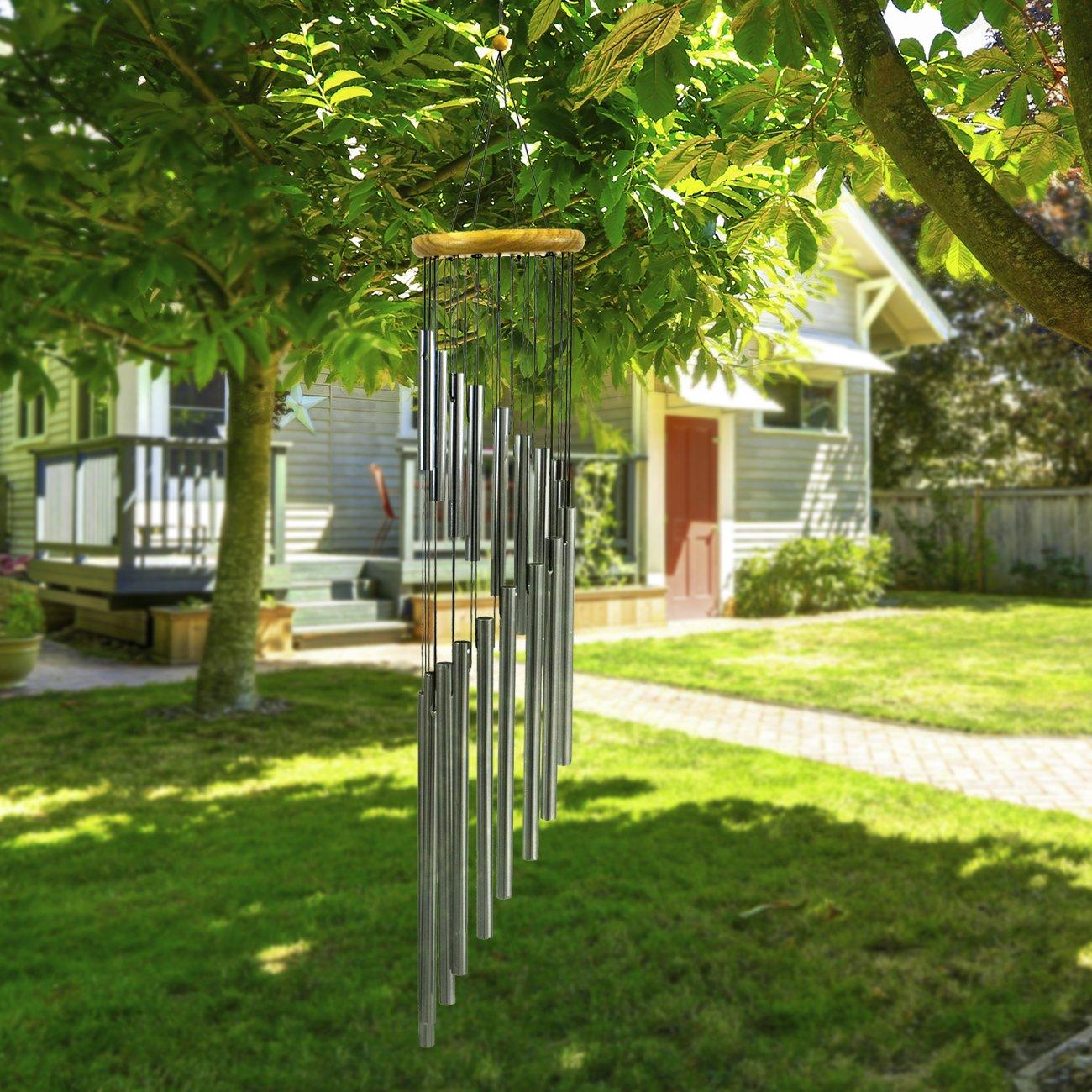 Sorbus® Timbre de Viento para Exteriores con Sonidos de Campana ...