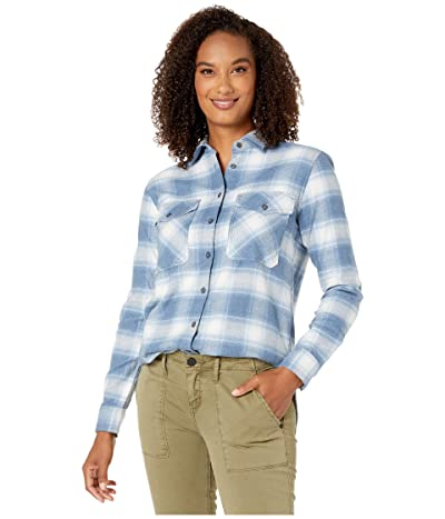 Pendleton Elbow Patch Flannel Shirt (Vintage Indigo Ombre) Women