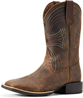 Men's Sport Wide Square Toe Western Cowboy Boot