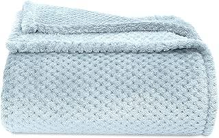Berkshire Blanket Honeycomb Shimmersoft Bed Blanket, Full/Queen, Hazy Sky