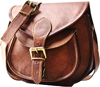 Handmade Women Leather Vintage Brown Cross Body Shoulder Bag Purse